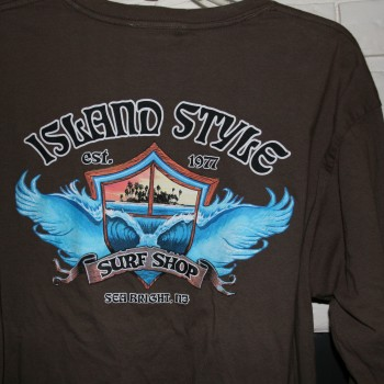 Island style Wing Wave Ls T Brn