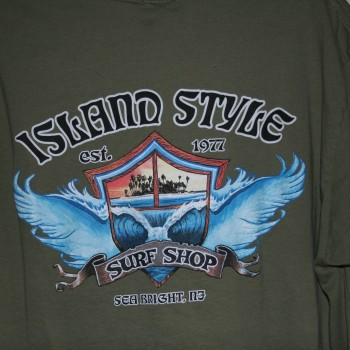 Island Style Wing Wave SS T Lt Olv