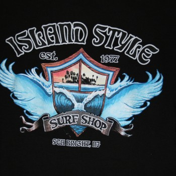 Island Style Wing Wave SS T Blk