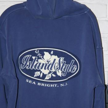 Island Style Bomber Hoody Blu