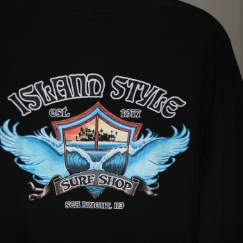 Island Style Wing Wave Ls T Blk