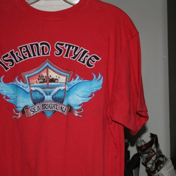 Island Style Wing Wave SS T Red