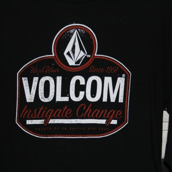 Volcom Ls T $25.00 Blk sku 25-057